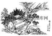 09年3月1日第一版画山水-矢量图-水远山长-19-山水国画矢量