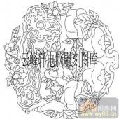 100个中国传统吉祥图-矢量图-牡丹如意-B-095-路径图