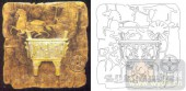 05肌理雕刻系列样图-司母戊方鼎-00142-艺术玻璃图库