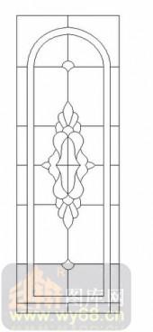 雕刻玻璃-12镶嵌-几何花纹-00020