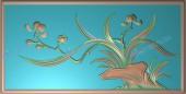 兰花明式床(四季花)