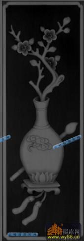 04-花瓶-038-花鸟灰度图