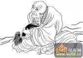 18罗汉3-矢量图-罗汉16-中国国画矢量罗汉