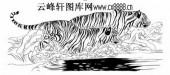 虎第五版-矢量图-九关虎豹-8-虎雕刻图片