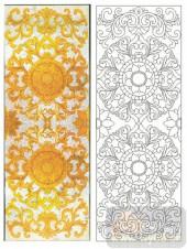 2011设计艺术玻璃刻绘-嘉佳美黄花-装饰玻璃