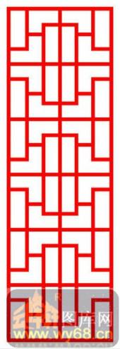 镂空装饰单式002-窗格花纹-镂空装饰单式002-068-屏风