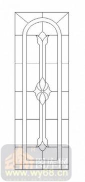 雕刻玻璃-12镶嵌-艺术花纹-00016