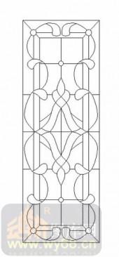 雕刻玻璃-12镶嵌-几何花纹-00061