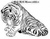 虎第五版-矢量图-龙腾虎踞-24-虎国画矢量