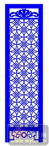 屏风001-铜钱花纹-屏风1-008-密度板镂空隔断欧式花型