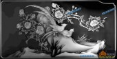 双面花套-野雉-阿彬双面花6-花鸟综合雕刻灰度图