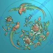 月季花鸟图