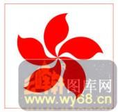 镂空装饰单式002-紫荆花-镂空装饰单式002-055-隔断墙效果图