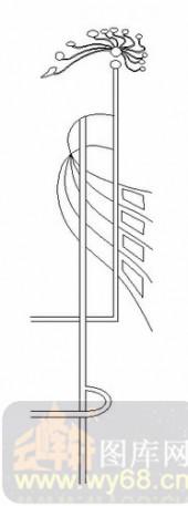 喷砂玻璃图库-06四扇门(2)-抽象线条-00040
