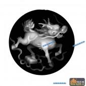 01-麒麟-011-玉雕浮雕灰度图