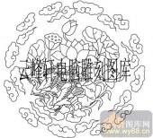 100个中国传统吉祥图-矢量图-莲花仙鹤-B-099-吉祥图案