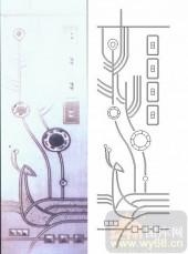 喷砂玻璃-浮雕贴片-抽象花纹-00026