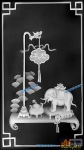 04-太平象-009-花鸟灰度图