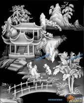 琴棋书画003-下棋-棋-琴棋书画灰度图案