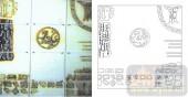 雕刻玻璃-肌理雕刻系列1-拼接方格-00127