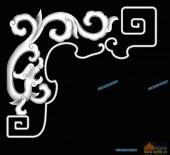 草龙-龙纹-059-龙凤浮雕灰度图
