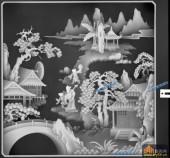 琴其书画-老少游-005-多宝格琴棋书画灰度图