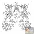 24龙凤瑞兽-双龙戏珠-00006-雕刻玻璃