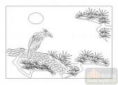 01传统系列-鹰觑鹘望-00033-雕刻玻璃