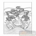 01传统系列-三龙戏海-00059-艺术玻璃图库