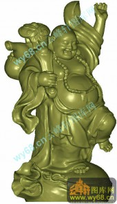 如意佛祖-圆柱雕刻图案