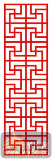 镂空装饰单式002-传统花纹-镂空装饰单式002-067-屏风