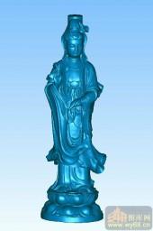 黄山观音-立体雕刻图