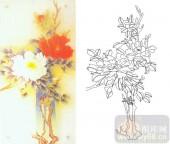 05肌理雕刻系列样图-牡丹花-00085-艺术玻璃图库