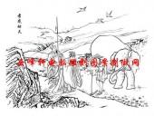 二十四孝-矢量图-01孝感动天-国画二十四孝图