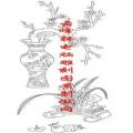 梅兰竹菊-矢量图-梅花 石榴 兰草-mlxj005-梅兰竹菊刻绘图