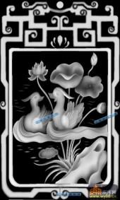 04-鸳鸯-088-花鸟灰度图