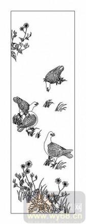 01传统系列-白鸽-00037-艺术玻璃图库