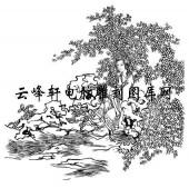 锦瑟年华-矢量图-61坐待春风画眉人-仕女画路径图