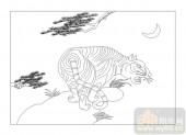 03动物系列-云龙风虎-00056-玻璃门