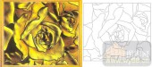 喷砂玻璃-肌理雕刻系列1-金色盛开-00088