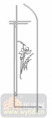 雕刻玻璃图案-08四扇门(4)-艺术花-00046