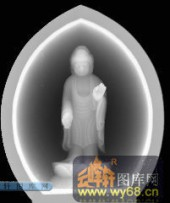 小佛-慈悲-013-玉雕浮雕灰度图