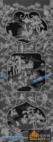 百子图001-百子图-百子大2-百子图浮雕灰度图