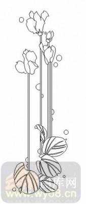 玻璃雕刻-08四扇门(4)-艺术花-00070
