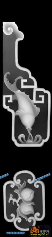 鱼图-鲤鱼-027-蝙蝠鱼精雕灰度图