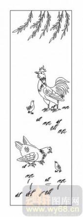 03动物系列-鸡的一家-00036-玻璃雕刻