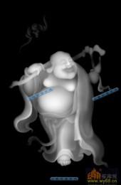小佛-欢喜罗汉-023-玉雕灰度图案