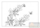04花草禽鸟-国色天香-00071-雕刻玻璃图案