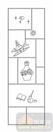 02古文化系列-博古架-00033-雕刻玻璃