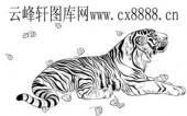 虎第四版-矢量图-落叶老虎-3-虎全图